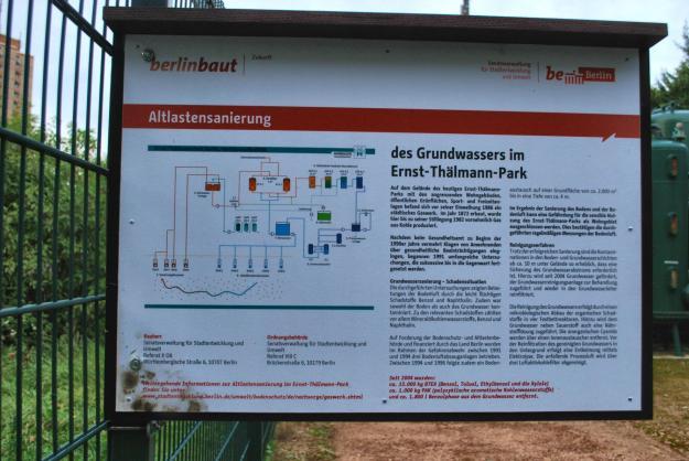 Grundwasserreinigungsanlage Schild