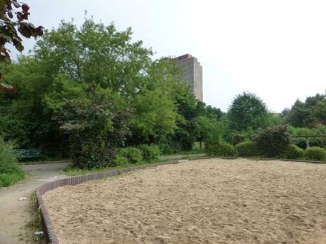 kleine Sandfläche