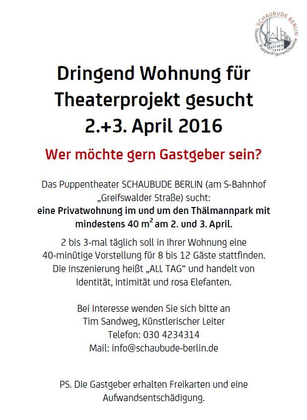 Theaterprojekt Suche